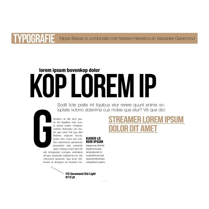 Typografie Albert Heijn Winterkrant