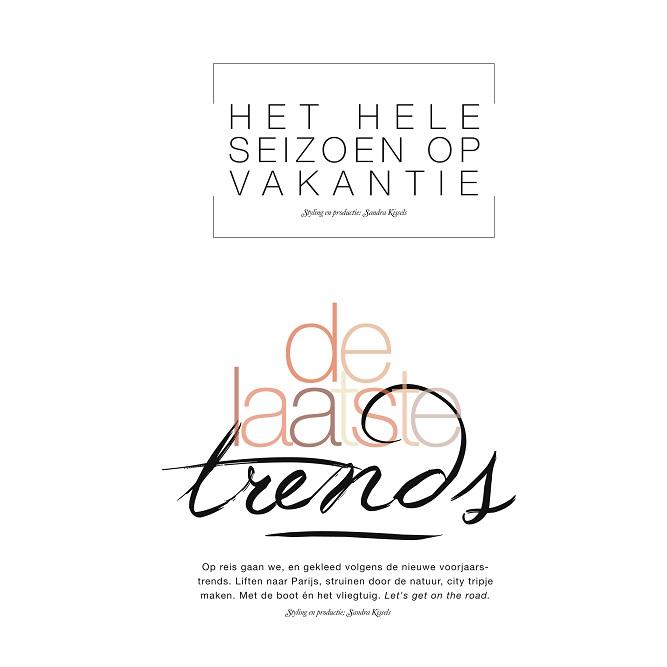 Typografie Libelle voorjaar 2014